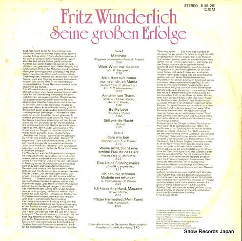 WUNDERLICH, FRITZ seine groben erfolge 845261 - back cover