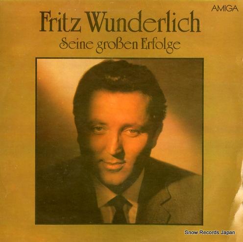 WUNDERLICH, FRITZ seine groben erfolge 845261 - front cover