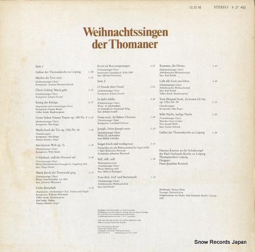 V/A weihnachtssingen der thomaner 827400 - back cover