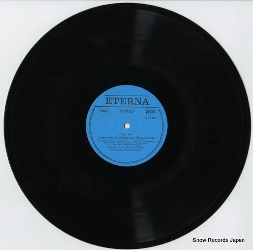 FISCHER-DIESKAU, DIETRICH hugo wolf; morike-lieder 827865 - disc