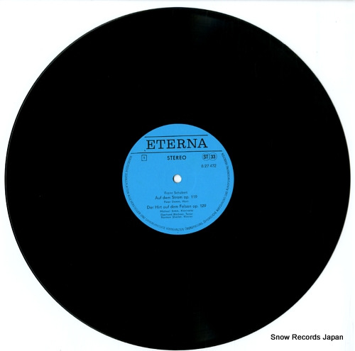 BUCHNER, EBERHARD lieder von schubert, spohr und schoeck 827472 - disc