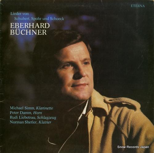 BUCHNER, EBERHARD lieder von schubert, spohr und schoeck 827472 - front cover