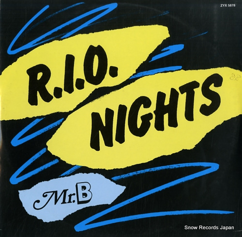 MR.B r.i.o.nights ZYX5878 - front cover