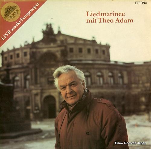 ADAM, THEO liedmatinee mit theo adam 827924 - front cover