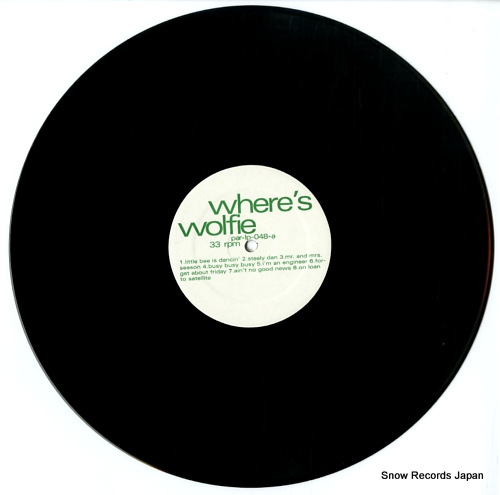 WOLFIE where's wolfie PAR-LP-048 - disc
