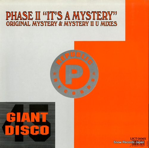 PHASE II reachin' / it's a mystery LICT006X - back cover