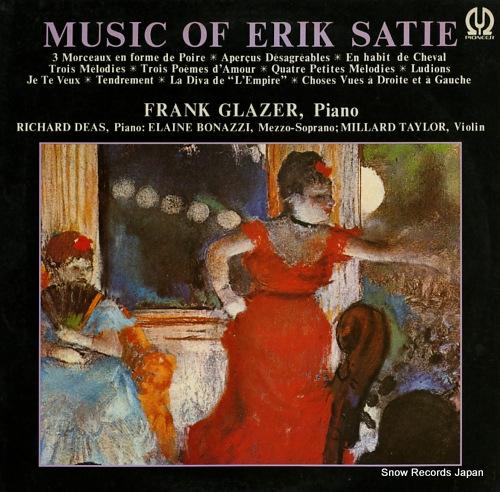 GLAZER, FRANK music of erik satie H-5015V - front cover