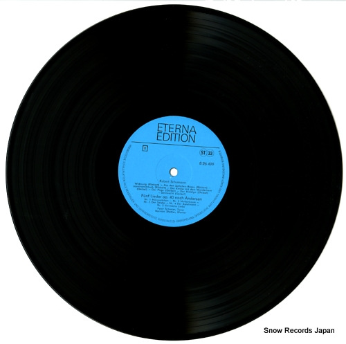 SCHREIER, PETER schumann; lieder nach andersen, lenau 826499 - disc