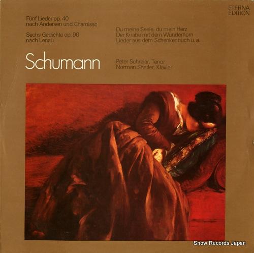 SCHREIER, PETER schumann; lieder nach andersen, lenau 826499 - front cover
