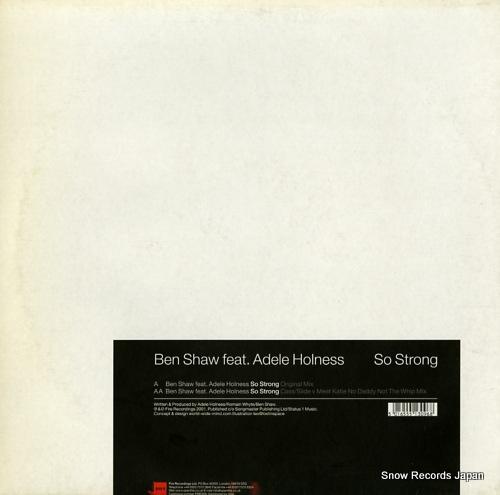 SHAW, BEN so strong ERIF009 - back cover