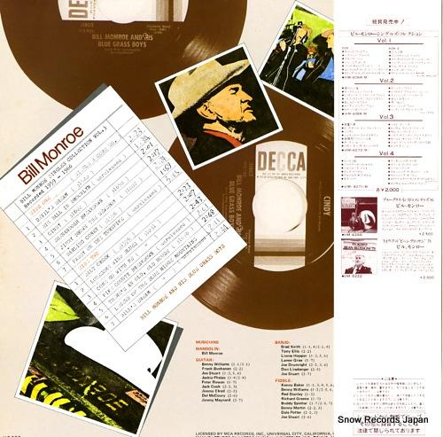 MONROE, BILL singles collection vol.3 (1959 - 1966) VIM.4070(M) - back cover