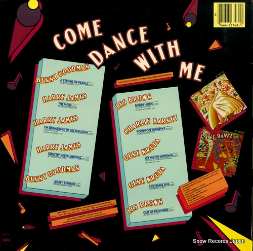 V/A come dance with me JC36743 - back cover