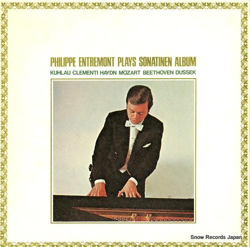 ENTREMONT, PHILIPPE philippe entremont plays sonatinen album band 1 SOCJ5-6 - back cover
