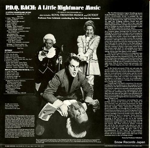 PETER, SCHICKELE p. d. q. bach; a little nightmare music K25C-335 - back cover