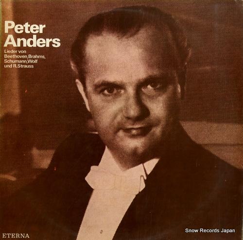 ANDERS, PETER lieder von beethoven, brahms, schumann, wolf und r.strauss 822610 - front cover