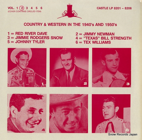 NEWMAN, JIMMY country & western in the 1940's and 1950's vol.2 CASTLELP8202 - front cover