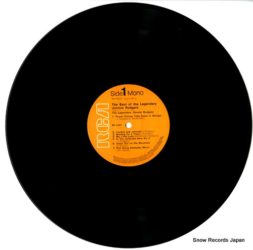 RODGERS, JIMMIE the best of the legendary jimmie rodgers RA-5501 - disc