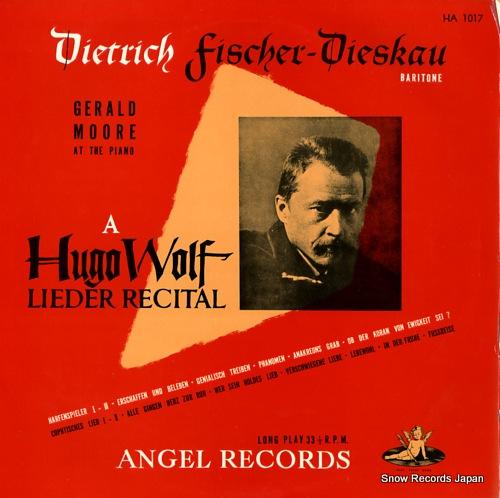 FISCHER-DIESKAU, DIETRICH a hugo wolf lieder recital HA1017 - front cover