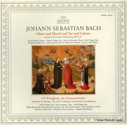 RICHTER, KARL bach; herz und mund and tet und leben 198331 - front cover