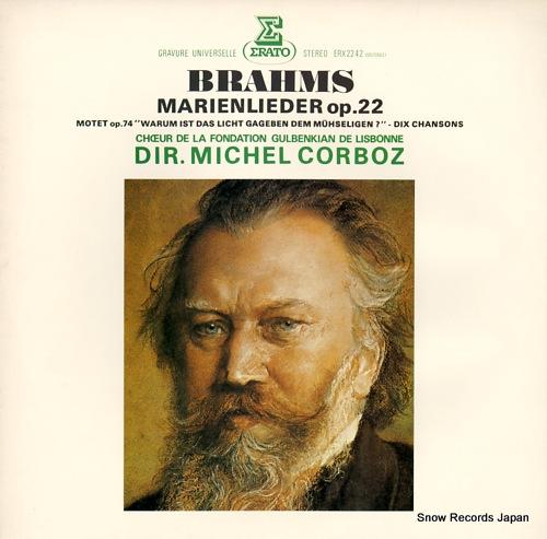CORBOZ, MICHEL brahms; marienlieder op.22 ERX2242 - front cover
