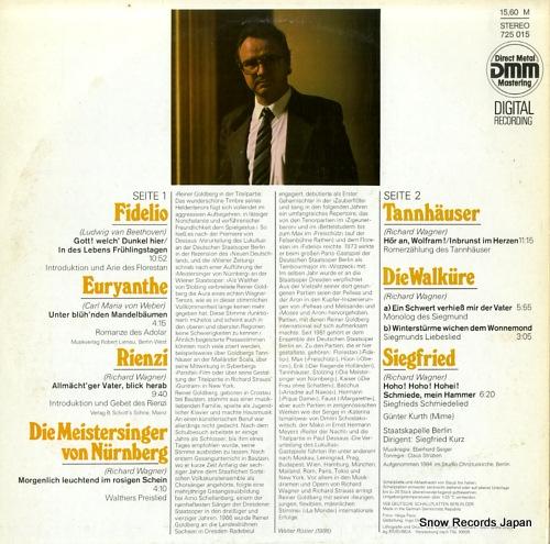 GOLDBERG, REINER reiner goldberg 725015 - back cover