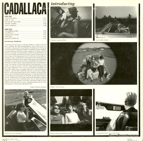 CADALLACA introducing cadallaca KLP86 - back cover