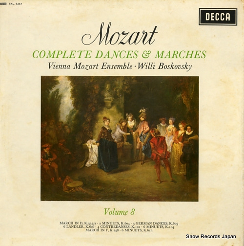 BOSKOVSKY, WILLI mozart: complete dances & marches vol.8 SXL6247 - front cover