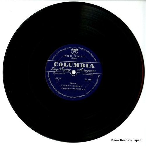 FRANCOIS, SAMSON chopin; ballade no.1 in g minor, op.23 ZL-131 - disc