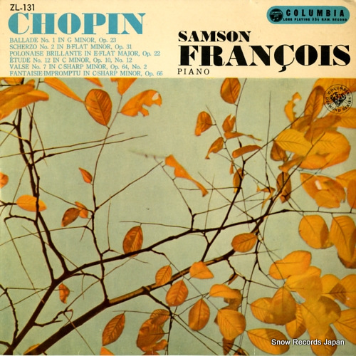 FRANCOIS, SAMSON chopin; ballade no.1 in g minor, op.23 ZL-131 - front cover