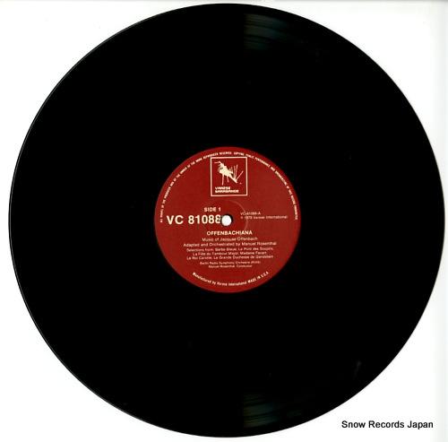 ROSENTHAL, MANUEL offenbachiana VC81088 - disc
