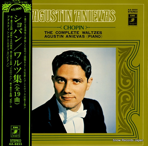 ANIEVAS, AGUSTIN chopin; the complete waltzes AA-8855 - front cover