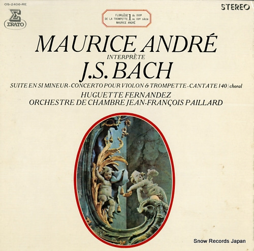 ANDRE, MAURICE maurice andre interprete j.s.bach OS-2406-RE - front cover