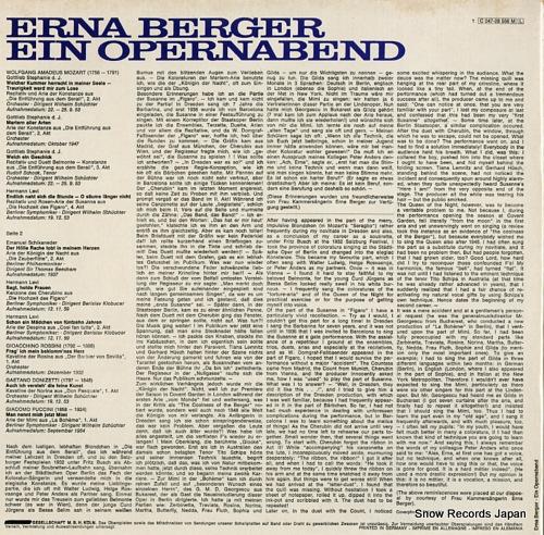 BERGER, ERNA ein opernabend 1C047-28556 - back cover