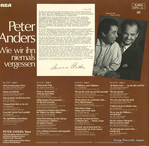 ANDERS, PETER wie wir ihn niemals vergessen VL30319 - back cover