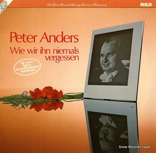 ANDERS, PETER wie wir ihn niemals vergessen VL30319 - front cover
