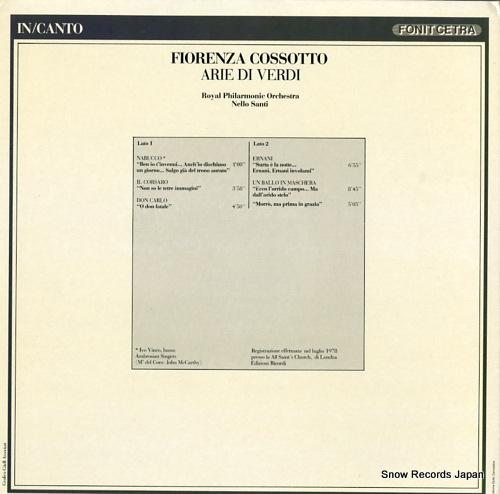 フィオレンツァ・コッソット arie di verdi LC9003/LIC9003