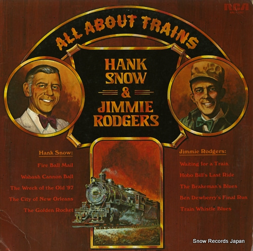 SNOW, HANK, AND JIMMIE RODGERS all about trains hank snow and jimmie rodgers ANL1-1052 - front cover