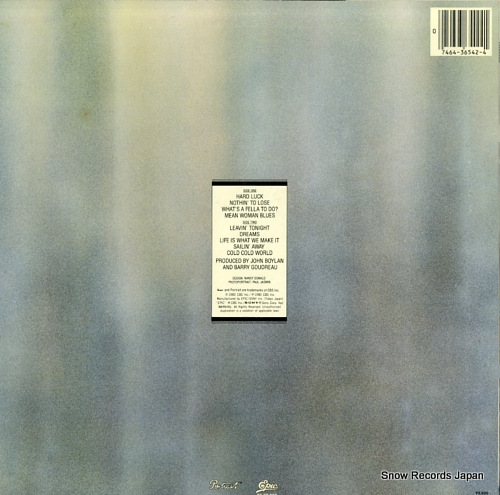 GOUDREAU, BARRY barry goudreau 25.3P-230 - back cover