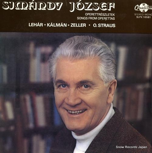 JOZSEF SIMANDY songs from operettas SLPX16581