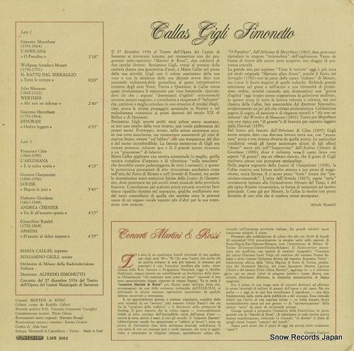 V/A concerti martini & rossi LMR5002 - back cover