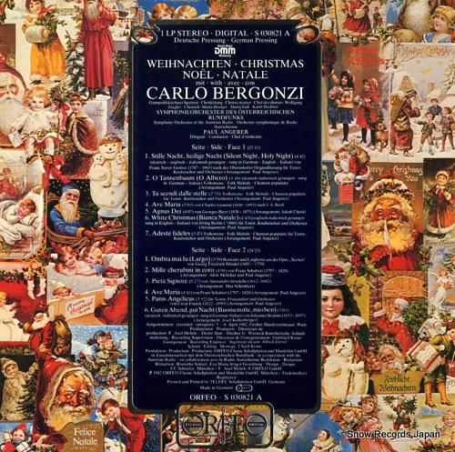BERGONZI, CARLO weihnachten christmas noel, natale S030821A - back cover
