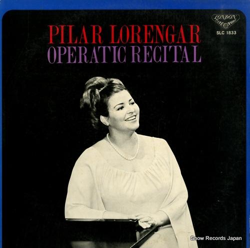 LORENGAR, PILAR operatic recital SLC1833 - front cover