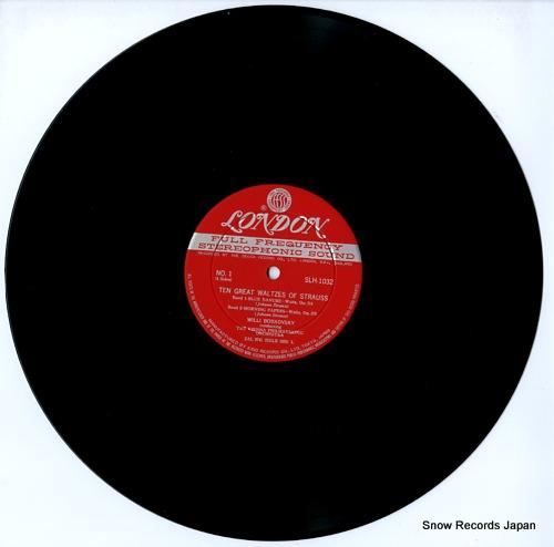 BOSKOVSKY, WILLI strauss; ten great waltzes of strauss SLH1032-3 - disc