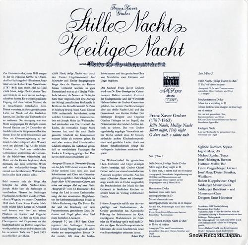 V/A franz xaver gruber; stille nacht! heilige nacht! AMS3522 - back cover