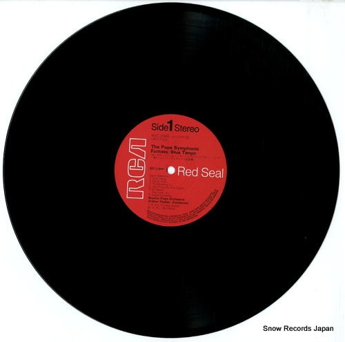 FIEDLER, ARTHUR the pops symphonic fantasy blue tango RVC-2088 - disc
