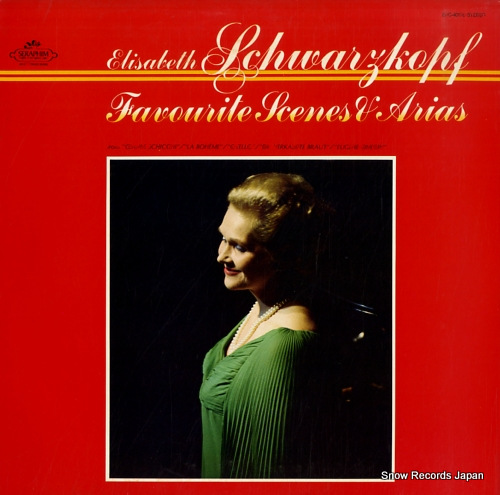 SCHWARZKOPF, ELISABETH favourite scenes and arias EAC-40178 - front cover