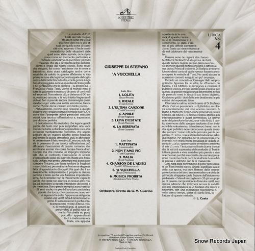 DI STEFANO, GIUSEPPE 'a vucchella 3C053-17641 - back cover