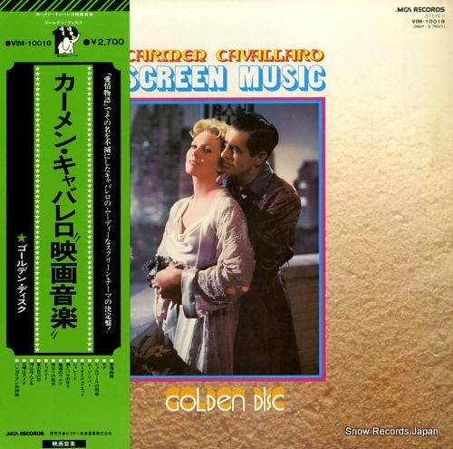 CAVALLARO, CARMEN screen music golden disc VIM-10018