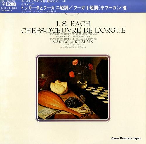 ALAIN, MARIE-CLAIRE j.s.bach; chefs-d'oeuvre de l'orgue RE-1064-RE - front cover