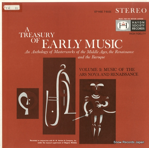 V/A a treasury of early music volume 2 STHSE7-9101 / SHSE-9101 - front cover